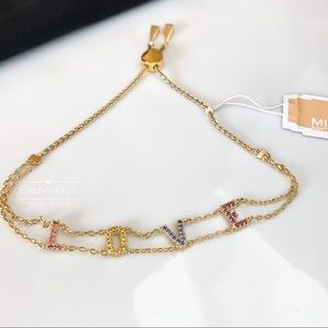Michael Kors crystal LOVE bracelet